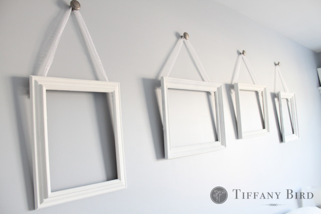 Simply modern mom diy mounting knobs on walls tutorial for Hanging frames on walls