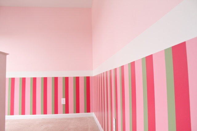 Simply Modern Mom » How To Paint Three Stripes On The Walls
