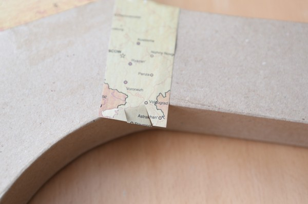 vintage map B cutting