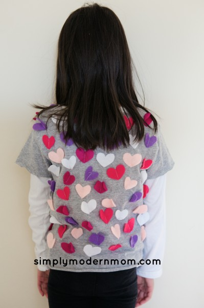 100th day Valentines shirt back